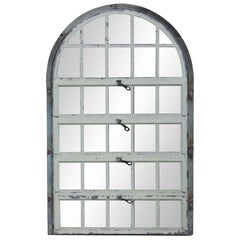 1930 Steel Palladian Window with Horizontal Openings and Frame from New Jersey