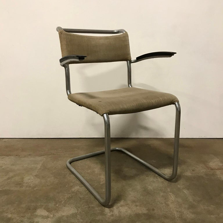 Damaged Furniture Sale: 1930, W.H. Gispen, Original Very Early 204 Chair With