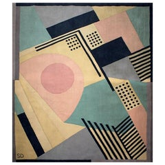 """1930"" wool carpet after a Sonia Delaunay painting"