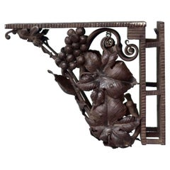 1930 Wrought Iron Harness Art Deco Period Decorated with Vines and Grap
