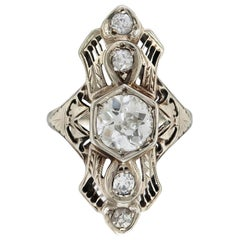 1930s 1.25 Carat Center Diamond with 0.30 Carat Ring