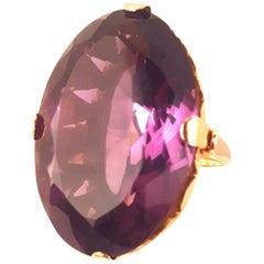 1930s 18 Karat Russian Amethyst Ring