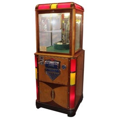 "1930s-1940s ESCO Sunburst ""Light Up"" Digger Claw 5c Vintage Crane Arcade Game"