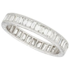 1930s 3.80 Carat Diamond and Platinum Eternity Ring