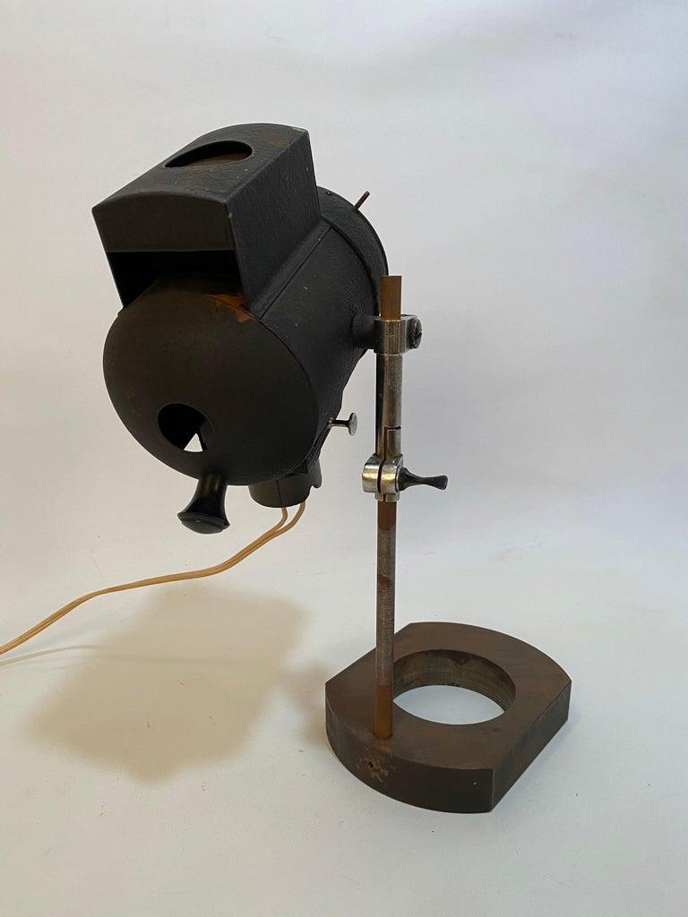 Industrial 1930s Adjustable Spot Light Task Lamp For Sale