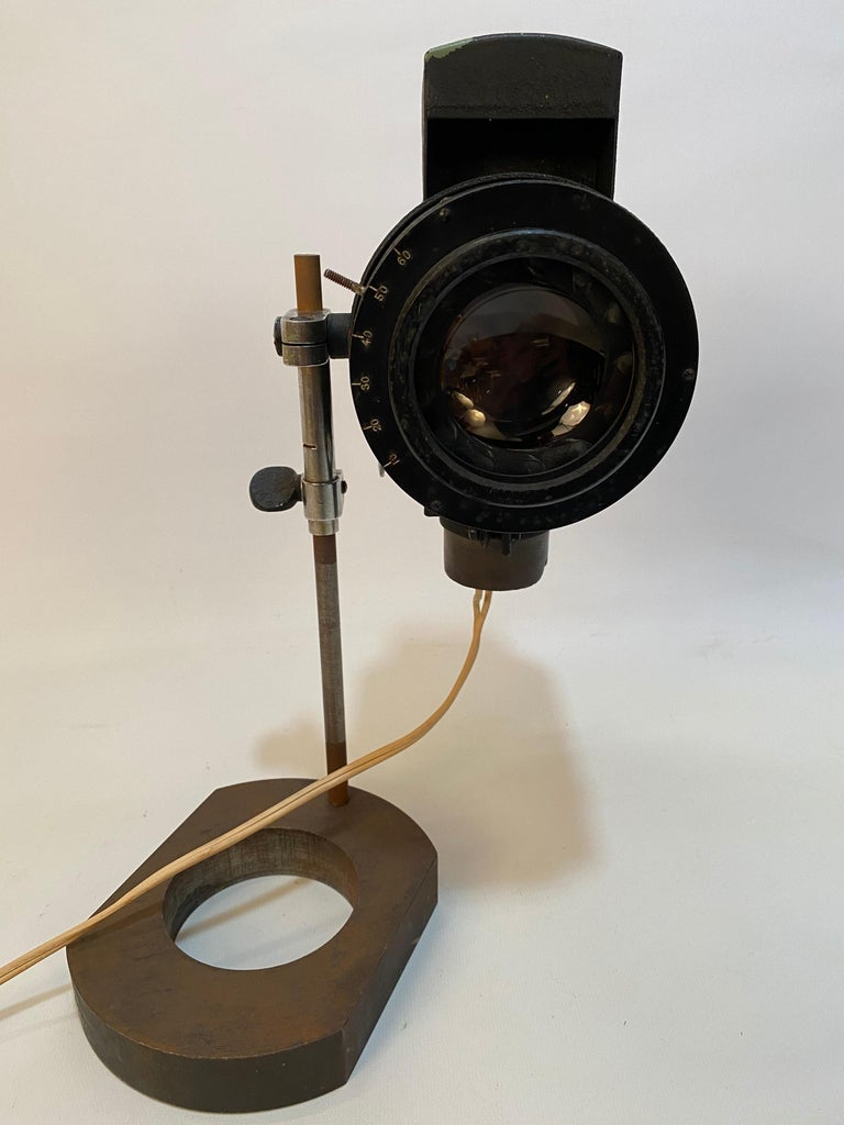 American 1930s Adjustable Spot Light Task Lamp For Sale