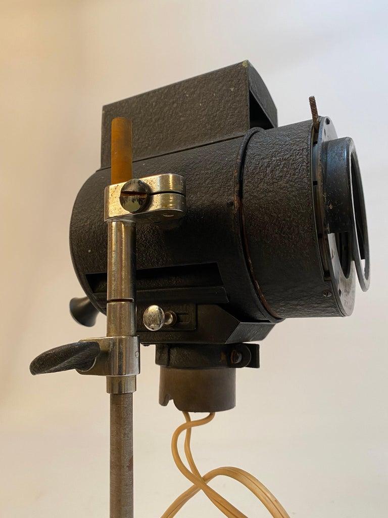 Mid-20th Century 1930s Adjustable Spot Light Task Lamp For Sale