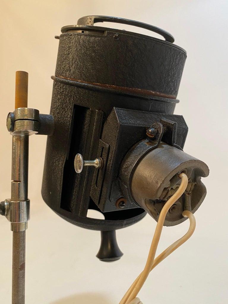 Steel 1930s Adjustable Spot Light Task Lamp For Sale