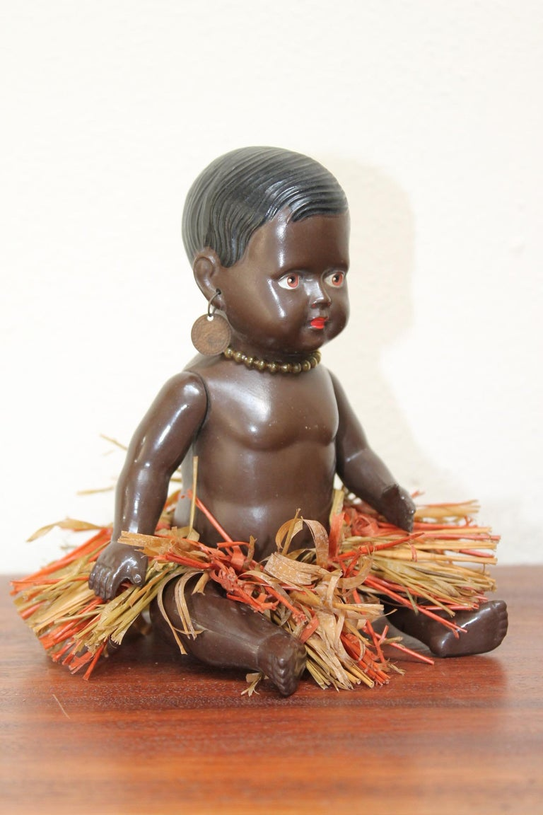1930s Afro, American Celluloid Doll, Cellba Germany, DRP Germany 18 1/2 For Sale 5