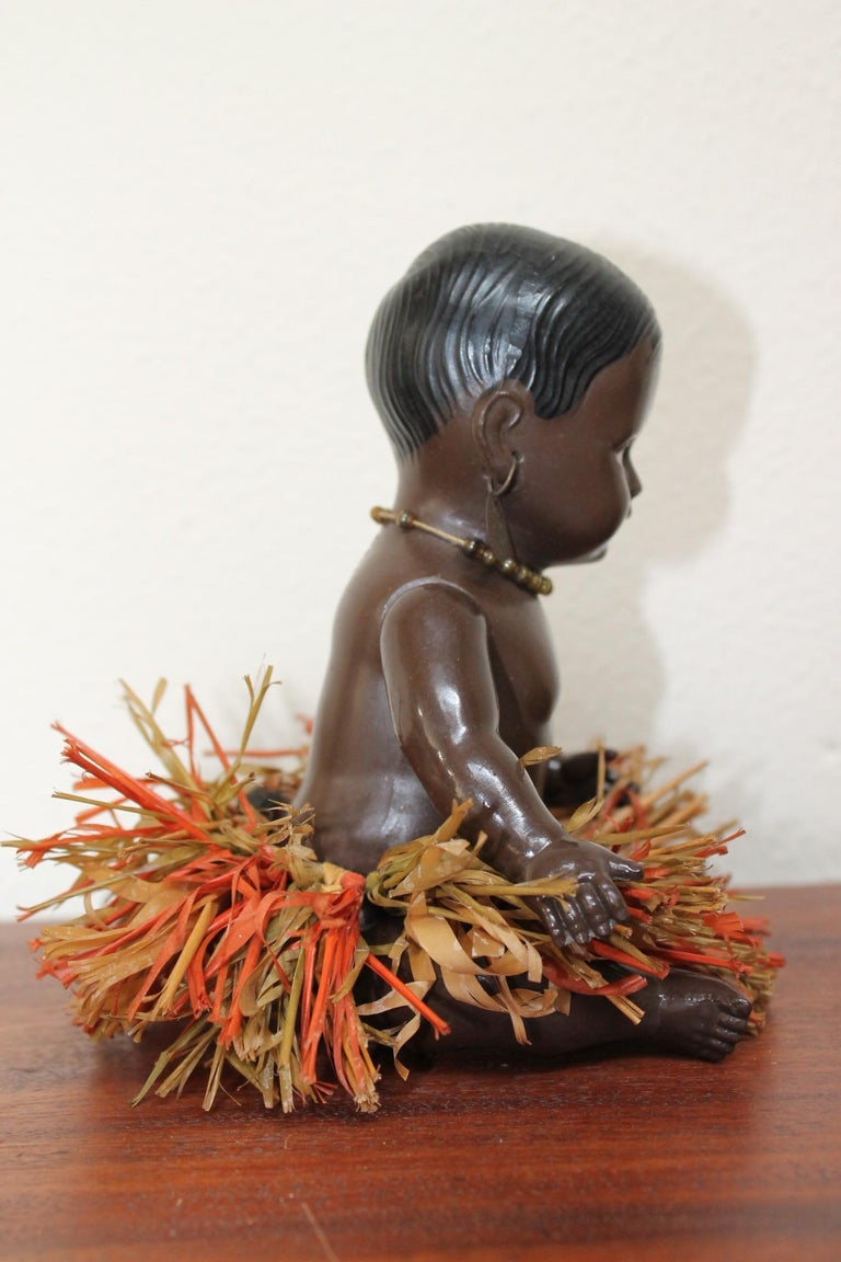 Art Deco 1930s Afro, American Celluloid Doll, Cellba Germany, DRP Germany 18 1/2 For Sale