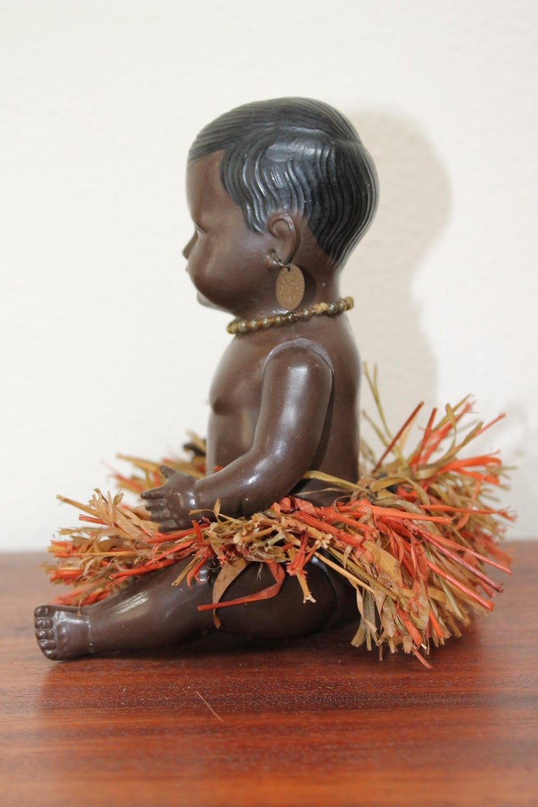 1930s Afro, American Celluloid Doll, Cellba Germany, DRP Germany 18 1/2 For Sale 1