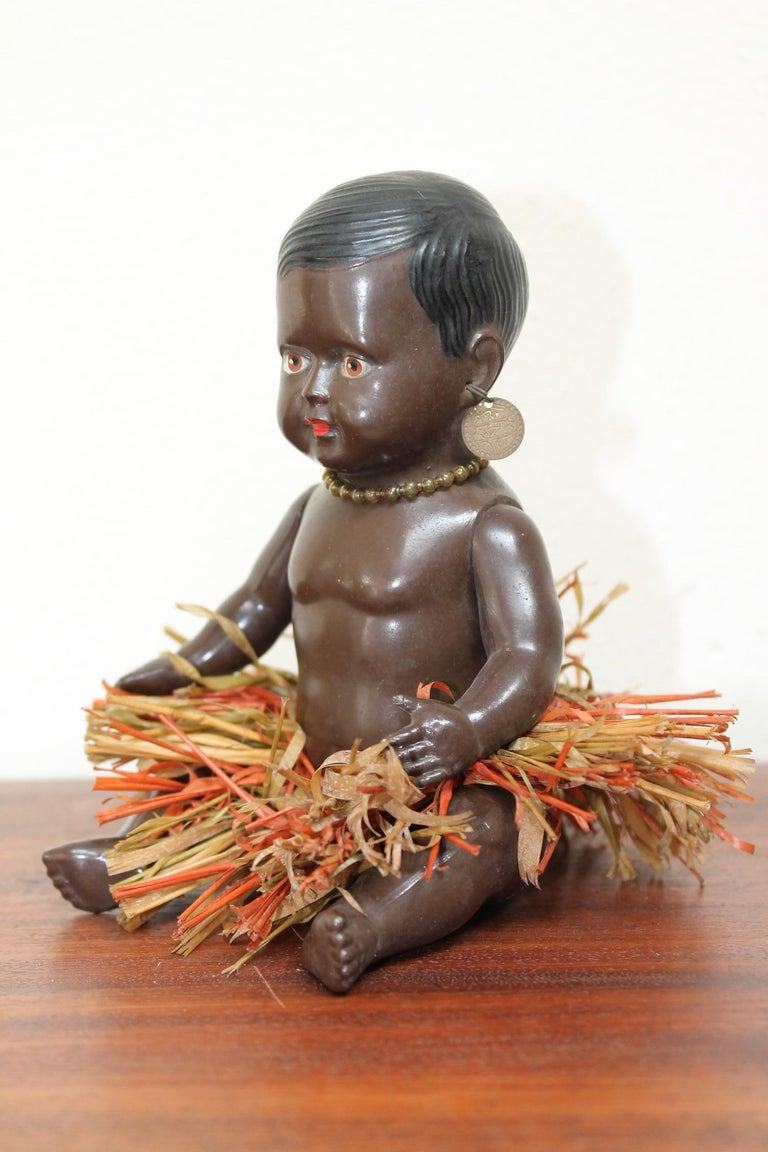 1930s Afro, American Celluloid Doll, Cellba Germany, DRP Germany 18 1/2 For Sale 2