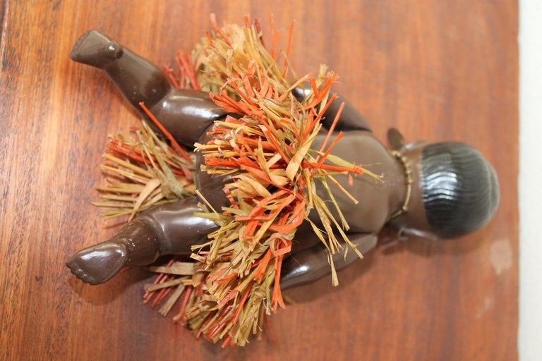 1930s Afro, American Celluloid Doll, Cellba Germany, DRP Germany 18 1/2 For Sale 4