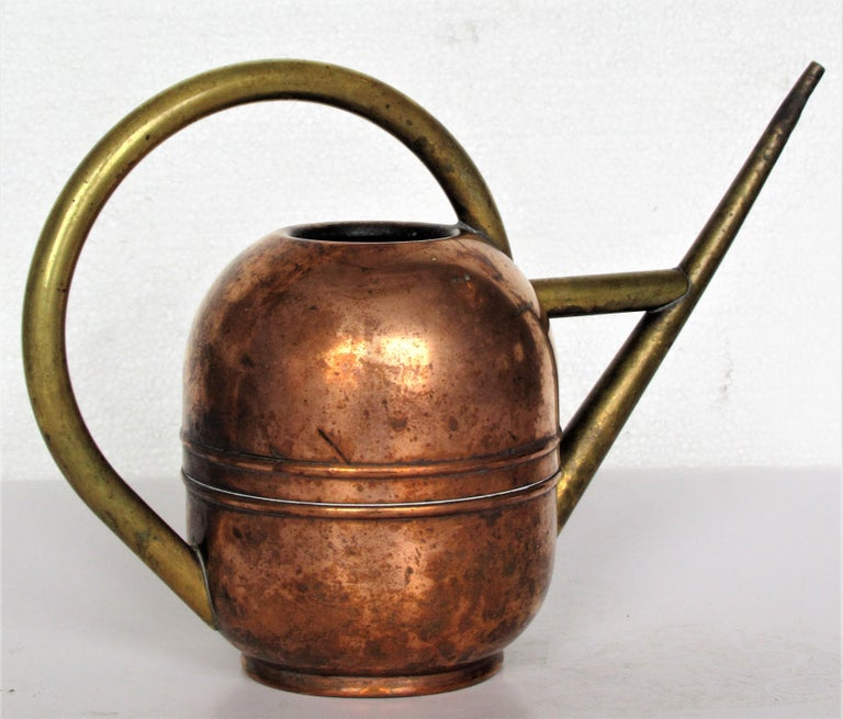 Brass 1930s American Art Deco Watering Can For Sale