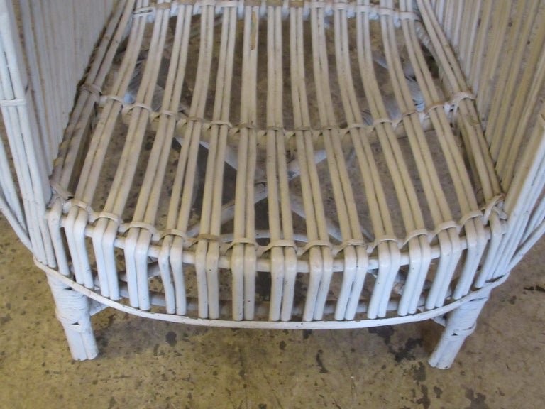 1930s American Stick Wicker Armchairs In Good Condition For Sale In Rochester, NY