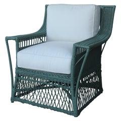 1930s American Wicker Lounge Chair