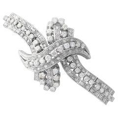 1930s Antique 8.08 Carat Diamond and Platinum Bracelet