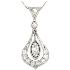1930s Antique Diamond and Platinum Pendant