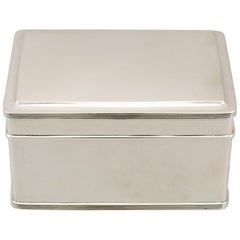 1930s Antique Dutch Silver Biscuit Box