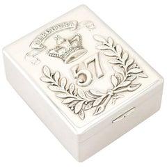 1930s Antique Indian Colonial Silver Cigarette Box