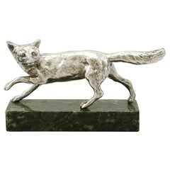 1930s Antique Sterling Silver Fox