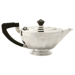 1930s Antique Sterling Silver Teapot