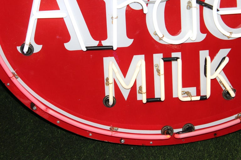 1930s Arden Milk Neon Advertising Sign For Sale 4