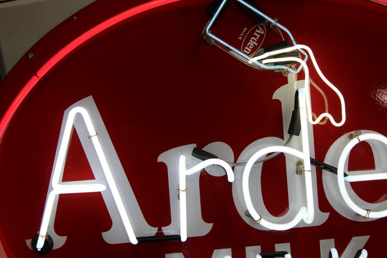 1930s Arden Milk Neon Advertising Sign For Sale 5