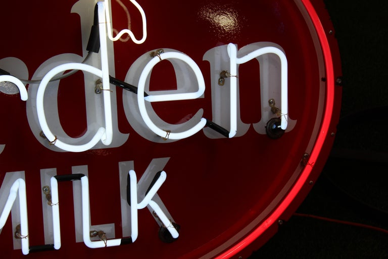 1930s Arden Milk Neon Advertising Sign For Sale 6