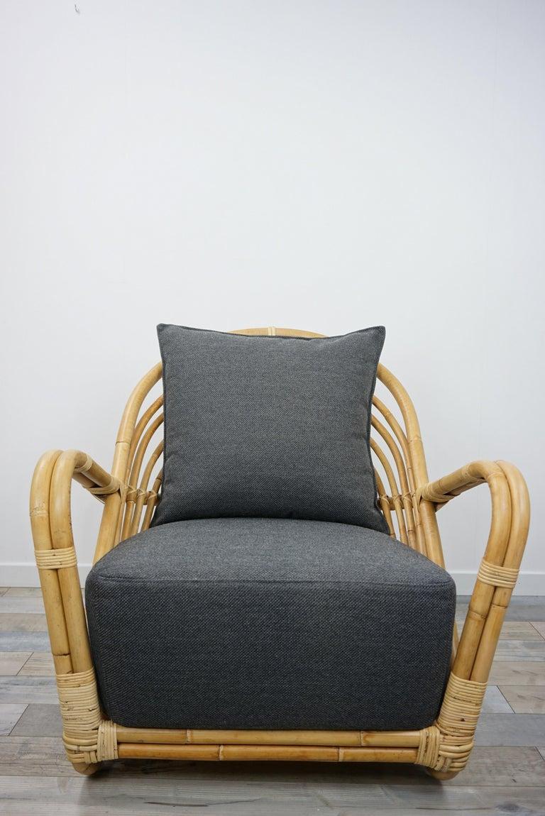1930s Arne Jacobsen Design Rattan Lounge Armchair For Sale 5