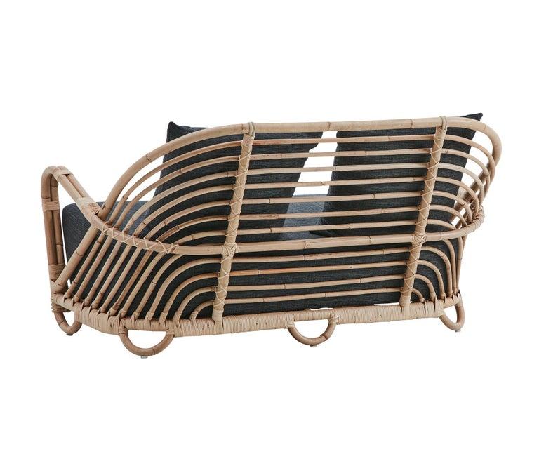 Mid-Century Modern 1930s Arne Jacobsen Design Rattan Sofa For Sale