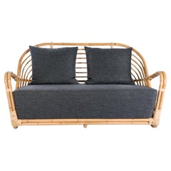 1930s Arne Jacobsen Design Rattan Sofa
