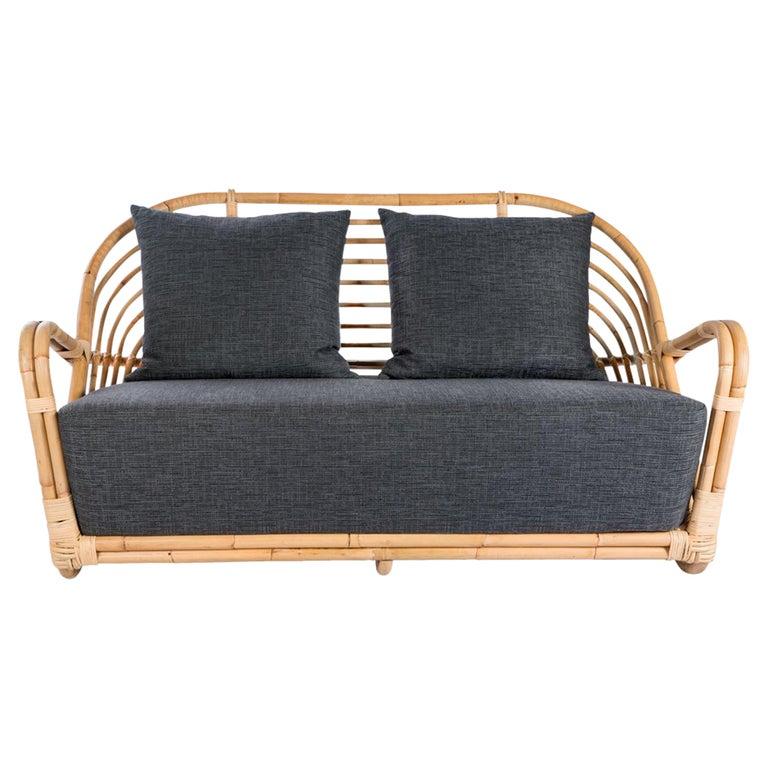 1930s Arne Jacobsen Design Rattan Sofa For Sale