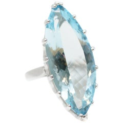 Aquamarine Solitaire Rings