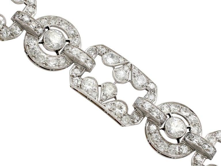 Women's 1930s Art Deco 12.29 Carat Diamond and Platinum Bracelet For Sale