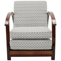 1930s Art Deco Adjustable and Convertible Armchair, Czechoslovakia
