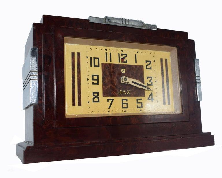1930s Art Deco Bakelite Clock by JAZ For Sale 1