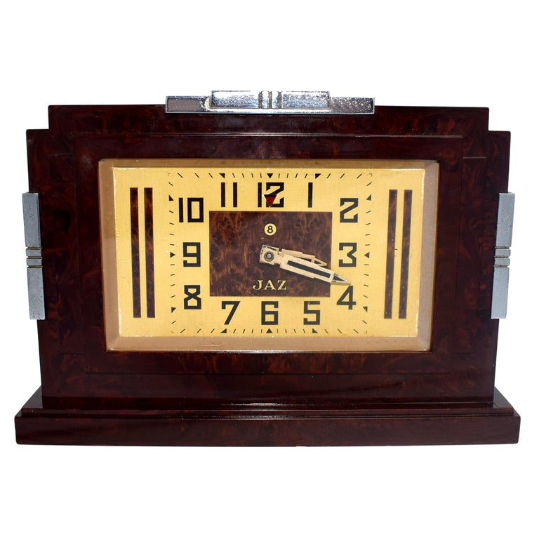 1930s Art Deco Bakelite Clock by JAZ For Sale