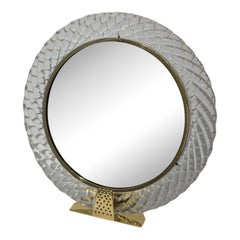 1930s Art Deco Barovier Et Toso Murano Vanity Mirror