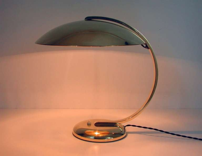 1930s Art Deco Bauhaus Hillebrand Desk Lamp Table Lamp Brass For Sale 2