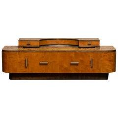 1930s, Art Deco Birch Vanity or Low Board Attributed to Eliel Saarinen Norway