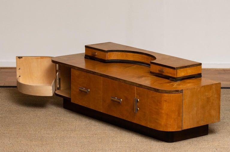 1930s, Art Deco Birch Vanity or Low Board Attributed to Eliel Saarinen, Norway 4