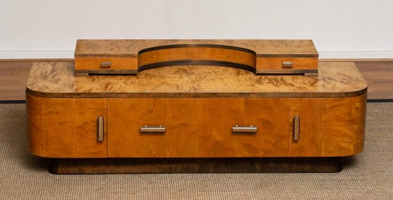 1930s, Art Deco Birch Vanity or Low Board Attributed to Eliel Saarinen, Norway 6