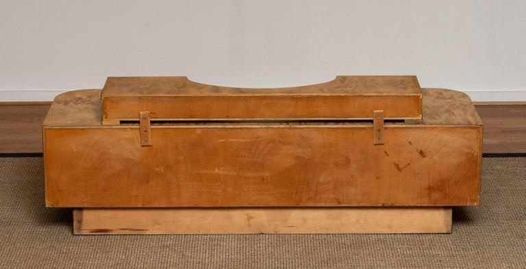 1930s, Art Deco Birch Vanity or Low Board Attributed to Eliel Saarinen, Norway 7