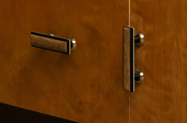 1930s, Art Deco Birch Vanity or Low Board Attributed to Eliel Saarinen, Norway 1