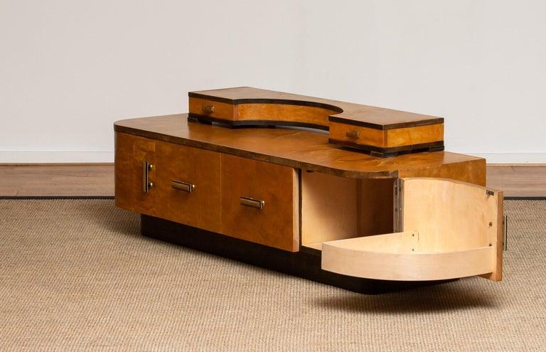 1930s, Art Deco Birch Vanity or Low Board Attributed to Eliel Saarinen, Norway 2