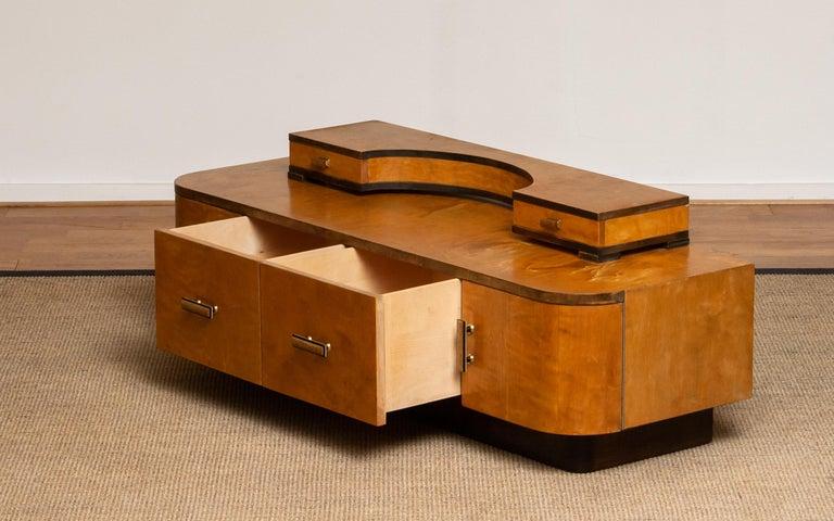 1930s, Art Deco Birch Vanity or Low Board Attributed to Eliel Saarinen, Norway 3
