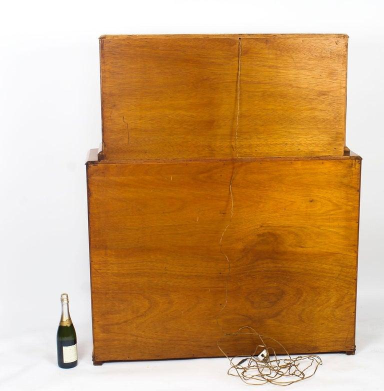 1930s Art Deco Burr Walnut Half Moon Cocktail Bar 13