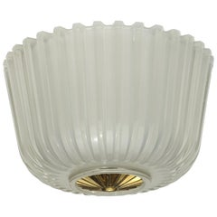 1930s Art Deco by Seguso Murano Glass Flush Mount