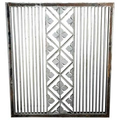 1930s Art Deco Cast Iron Wall Vent Cover
